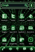 Screenshot of ADW Theme Green Glow Code Pro