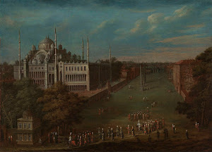 RIJKS: Jean Baptiste Vanmour: The Grand Vizier Crossing the Atmeydanı (Horse Square) 1737