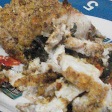Pecan Crusted  Chicken Florentine