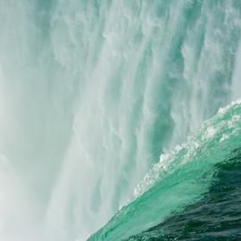 Edge of Niagara Falls by Robert Machado - Nature Up Close Water ( park, ontario, wet, natural, usa, horseshoe )