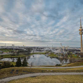 Olympic Centrum,Munich by Adrian  Limani - City,  Street & Park  City Parks ( olympic, munich, munchen, park, centrum, beautiful, germany )