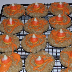 Kisses Candy Corn Autumn Cookies