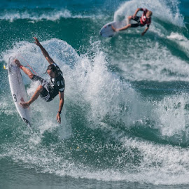 Hurley Pro 2014 Champion Jordy Smith. by Mike SurfshotHealey - Sports & Fitness Surfing