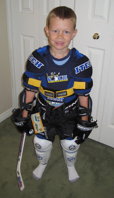 Bige in his hockey gear
