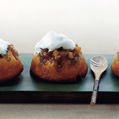 Apple Upside-Down Cornmeal Cakes