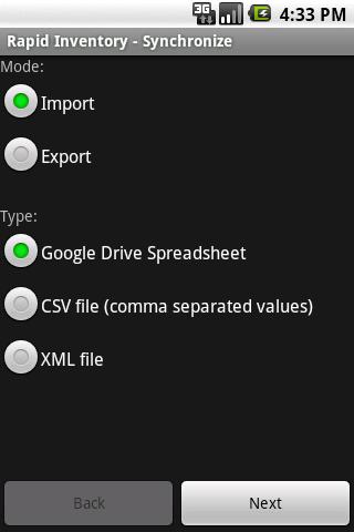 Rapid Inventory - screenshot