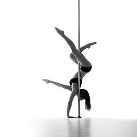 Poledance by Vítězslav Malina - Sports & Fitness Fitness ( girl, pole, bw, women, light,  )