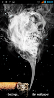 Screenshot of Smoking Skull Live Wallpaper