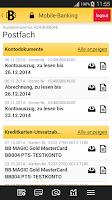 Screenshot of Berliner Bank BB Mobile
