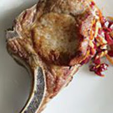 Cherry Stuffed Pork Chops