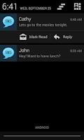 Screenshot of SMS Notifier Pro