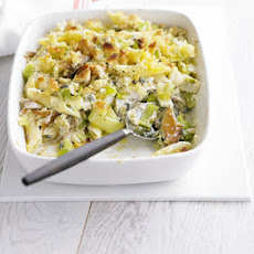 Leek & Mackerel Penne Bake
