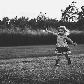 Flying by Stephanie Stafford - Babies & Children Children Candids ( plane, black and white, fly )