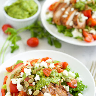 Grilled Chicken Fajita Salad with Guacamole Dressing