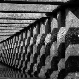 P1110029 by Andrey Acorbusie - Abstract Patterns ( acorbusie, black & white, architecture )