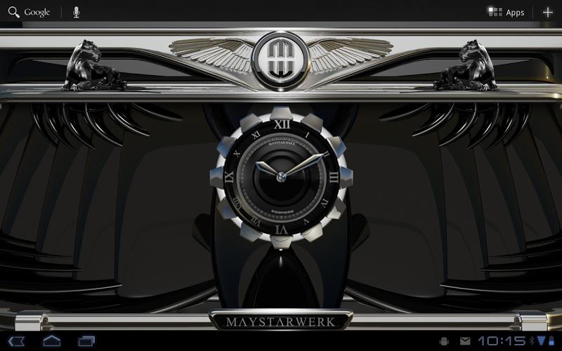 Clock Widget Black Panther Screenshot 5