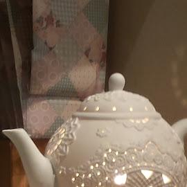 by Anne Johnson - Artistic Objects Still Life ( porcelain, tea pot, still life, ceramic, design )