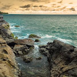 Carocok by Hizzband Aditya - Nature Up Close Rock & Stone ( indonesia, sunset, sea, stone, rock, sunrise, beach, painan, hizzband, coast )
