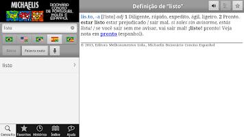 Screenshot of Michaelis Conciso 3 Línguas