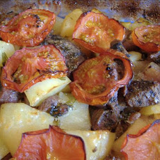 Tave (Cypriot Baked Lamb and Potatoes With Cumin and Tomatoes)