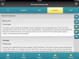 Screenshot of Rawtarian's Raw Recipes