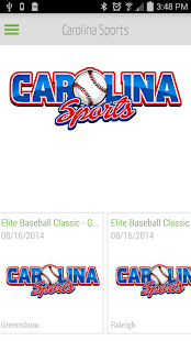 Carolina Sports Events - screenshot