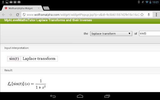 Laplace Transforms Calculator