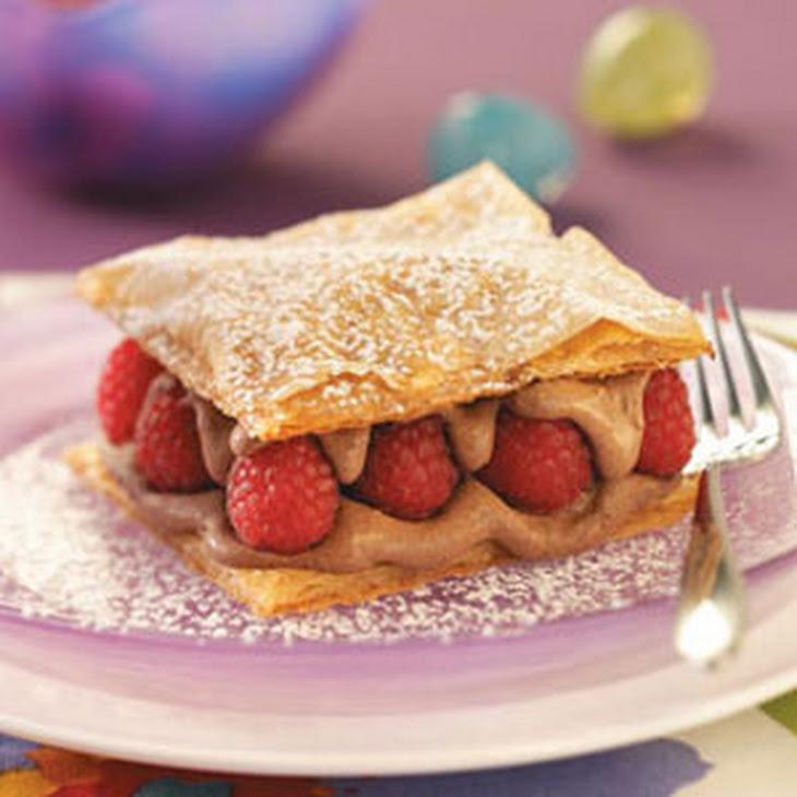 Chocolate Raspberry Napoleons Recipe | Yummly
