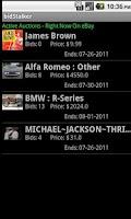 Screenshot of bidStalker for eBay