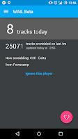 Screenshot of WAIL Beta — last.fm scrobbler