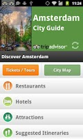 Screenshot of Amsterdam City Guide