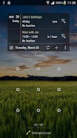 Screenshot of Calendar Agenda Widget