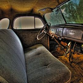 Oldie by Michael Buffington - Transportation Automobiles ( car, interior, old, vintage, automobile, auto, antique )