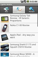 Screenshot of CgeNa Gadget Price Search