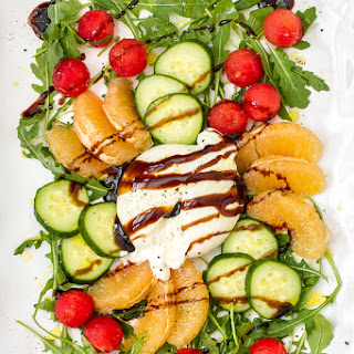 Watermelon, Cucumber & Burrata Salad