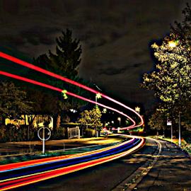 night shot by Thorsten Tumfart - Abstract Light Painting
