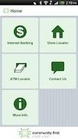 Screenshot of Community First Credit Union