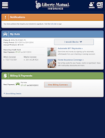 Screenshot of Liberty Mutual Mobile