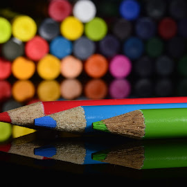 Colourful by Majid Uppal - Artistic Objects Other Objects ( rgb, crayons, pencils, colours )