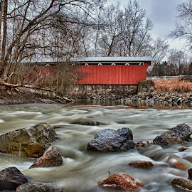 Everett Road Covered Bridge, Cuyahoga Valley National Park by Martin Belan - Buildings & Architecture Bridges & Suspended Structures ( covered bridge, cuyahoga valley national park, long exposure photography, bridge, landscape,  )