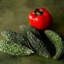 Bitter Gourd & Capsicum by Rakesh Syal - Food & Drink Fruits & Vegetables (  )