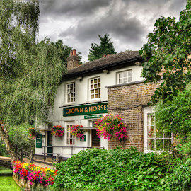 English Pub by Laura Prieto - City,  Street & Park  Neighborhoods ( england, english pub, british, enfield, local pub )