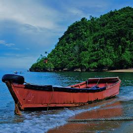The Red by Rhyniel Tan - Transportation Boats ( transporation, landscape, boat,  )
