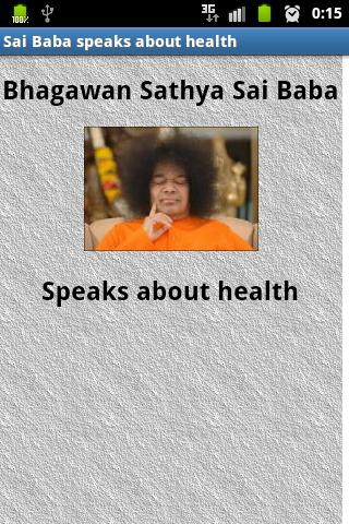 Sai Baba speaks about health