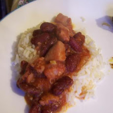 Red Beans and Rice With Ham and Chorizo