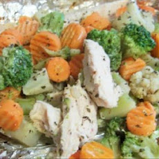 Herbed Chicken-N-Veggie Packet Dinner