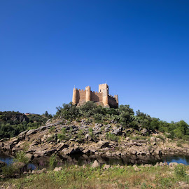 Almourol Castle by Bruno Vieira - Buildings & Architecture Statues & Monuments ( water, tagus, almourol, castle, portugal, river )
