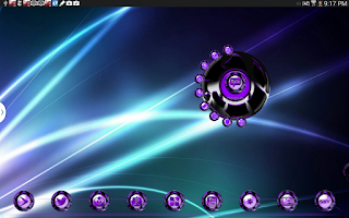 Screenshot of Next 3D Theme Purple Twister
