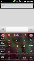 Screenshot of GO Keyboard Carnation theme