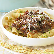 Slow-Cooker Lamb Stew with Rigatoni